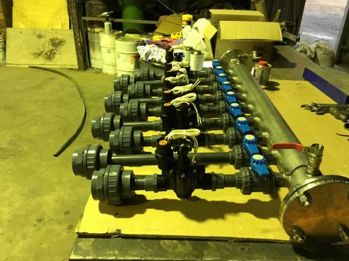 welding water manifold pump feature
