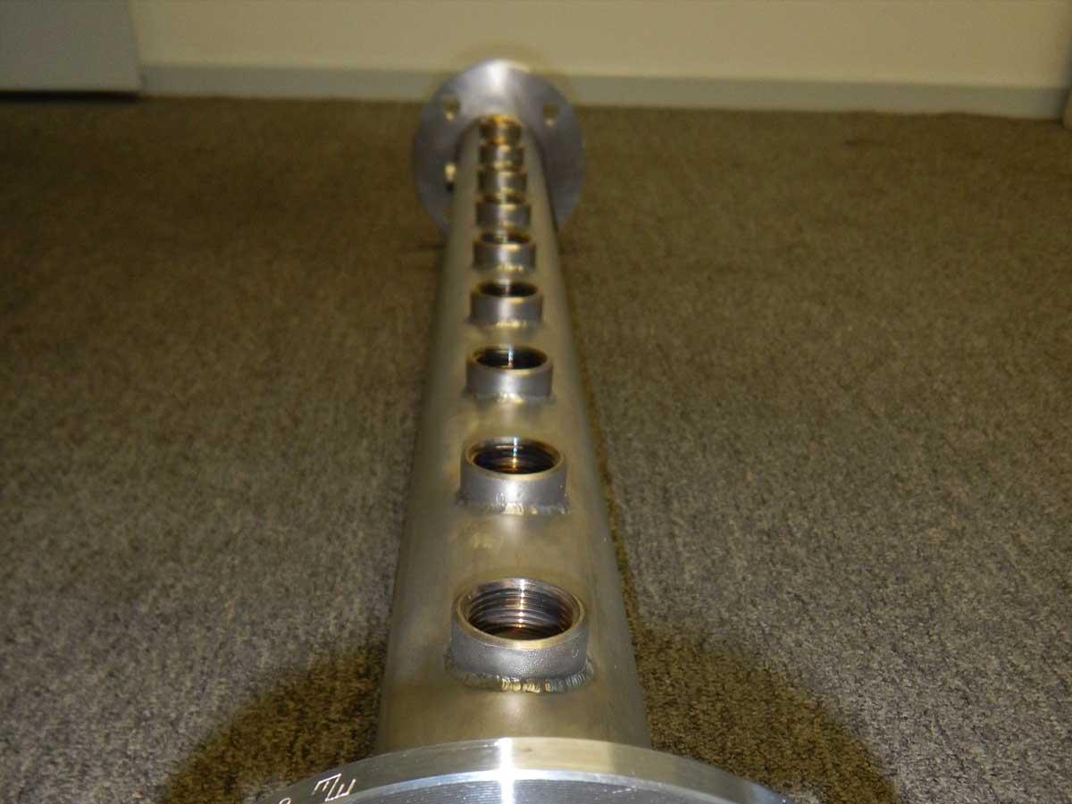 welding water manifold pump feature